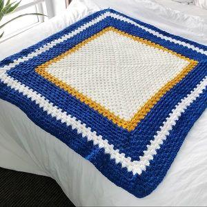 Vintage Hand Crocheted Blanket